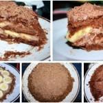 Шоколадно-банановый торт из пряников.Пряники шоколадные